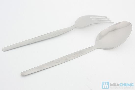 Bộ muỗng nĩa inox (12 muỗng x12 nĩa) - Chỉ 73.000đ - 6