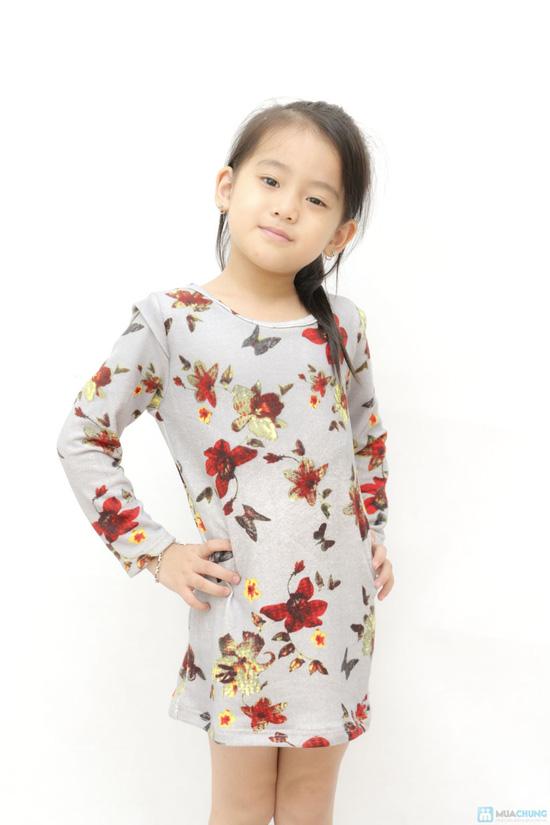Combo 02 váy len họa tiết da báo cho bé - 9