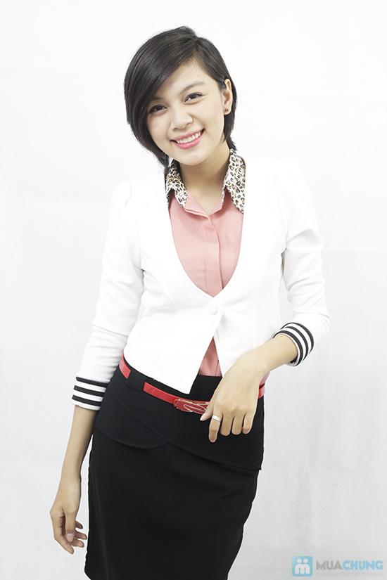 Áo khoác tay lật phong cách Hàn Quốc, cho bạn gái thật trẻ trung, quyến rũ - Chỉ 110.000đ/chiếc - 1