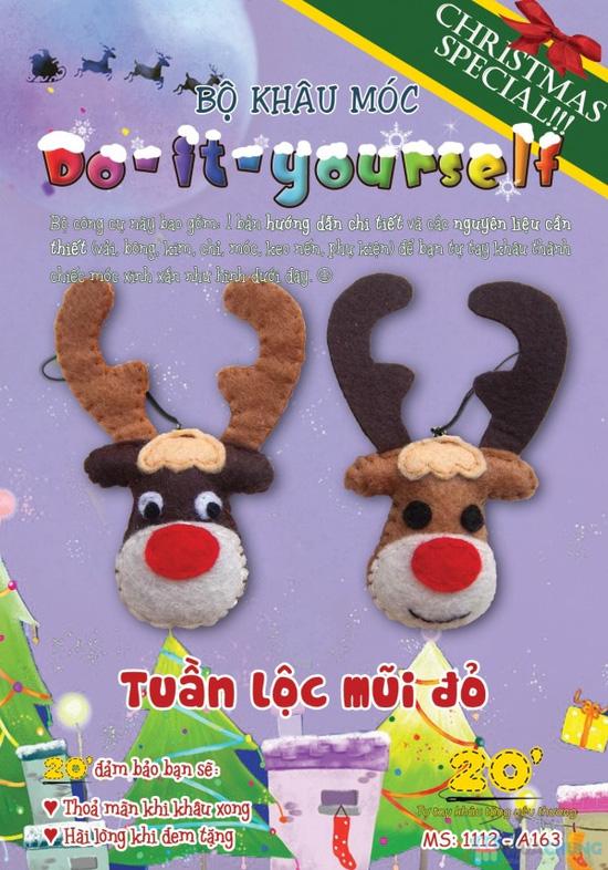 Bộ kit khâu vải dạ handmade - Quà tặng Giáng sinh dễ thương và ý nghĩa cho người thân - 1