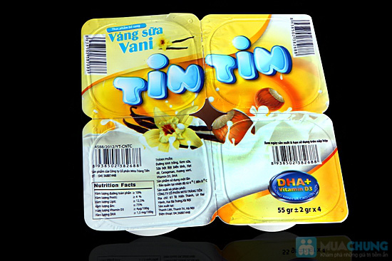 Combo 4 vỉ váng sữa Tin Tin - Bổ sung DHA và Vitamin B3 - 4