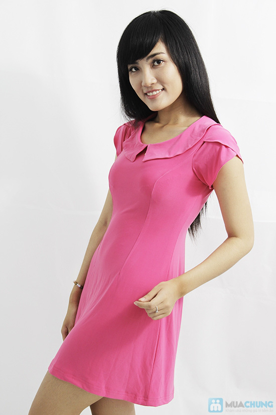 Đầm thun tay cánh hồng xinh xắn - Cho bạn gái thêm lựa chọn khi xuống phố - Chỉ 135.000đ/01 chiếc - 2