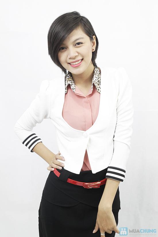 Áo khoác tay lật phong cách Hàn Quốc, cho bạn gái thật trẻ trung, quyến rũ - Chỉ 110.000đ/chiếc - 2