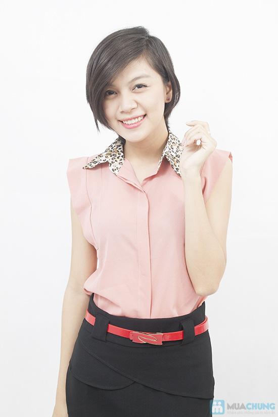 Trẻ trung và nữ tính với áo sơ mi tay vuông xinh xắn dành cho bạn gái - Chỉ 99.000đ/01 chiếc - 3