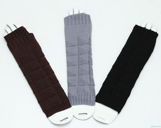 Găng tay len dài hở ngón - 2