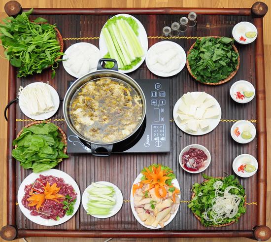Lẩu canh cua đồng đặc biệt, Bắp bò tươi, Gà ta thơm ngon tại Nhà hàng Thiên Việt - Canh cua đồng - Chỉ với 303.000đ - 6