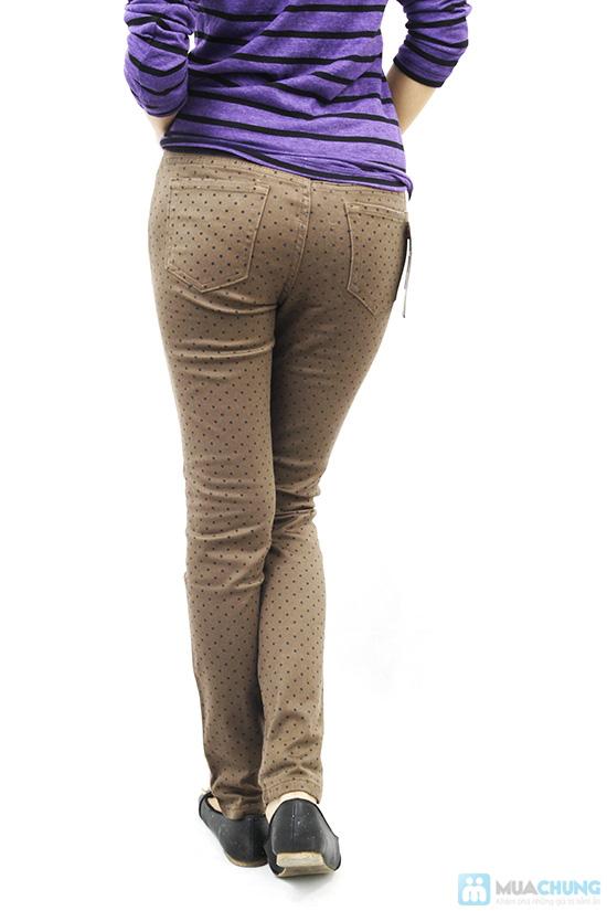 Quần kaki thun họa tiết chấm bi cho nữ - Chỉ 135.000đ - 2