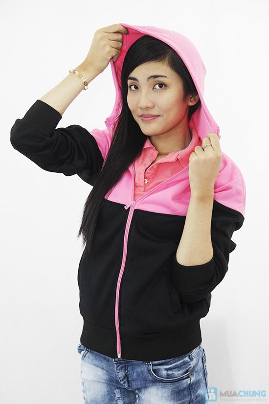 Áo khoác phối hồng đen đẹp mắt cho bạn gái