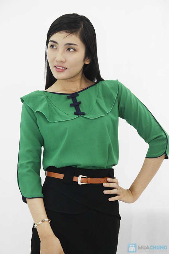 Trẻ trung và nữ tính với áo voan cổ bèo dành cho bạn gái - Chỉ 120.000đ/01 chiếc - 5