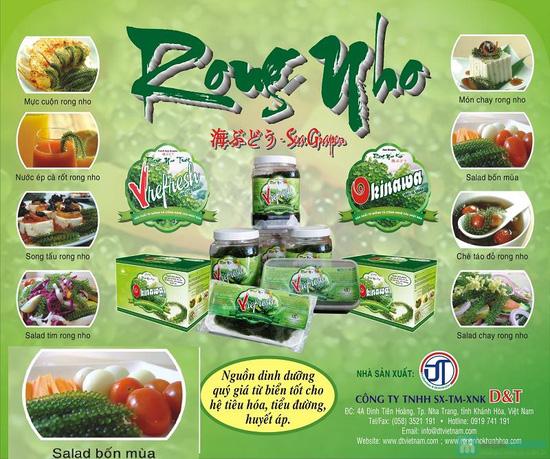 Rong nho Tươi Vrefresh 100% Tự Nhiên - giàu Vitamin, tẩy độc cơ thể, đẹp da. Giống từ Nhật Bản - Chỉ 85.000đ/01 hộp - 2