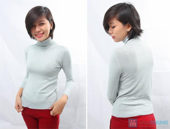 Ấm áp và phong cách với áo len cổ lọ tay dài cho nữ - Chỉ 92.000đ/01 chiếc - 3