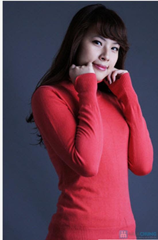 Ấm áp và phong cách với áo len cổ lọ tay dài cho nữ - Chỉ 92.000đ/01 chiếc - 1