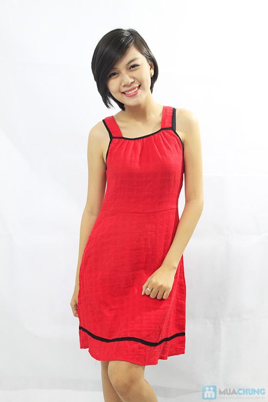 Đầm đỏ sát nách - Thoải mái khi ở nhà - Chỉ 80.000đ/ 01 chiếc - 1