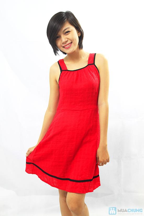 Đầm đỏ sát nách - Thoải mái khi ở nhà - Chỉ 80.000đ/ 01 chiếc - 5
