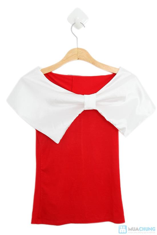 Áo Mimosa đỏ trắng yêu kiều - Chỉ 85.000đ - 6