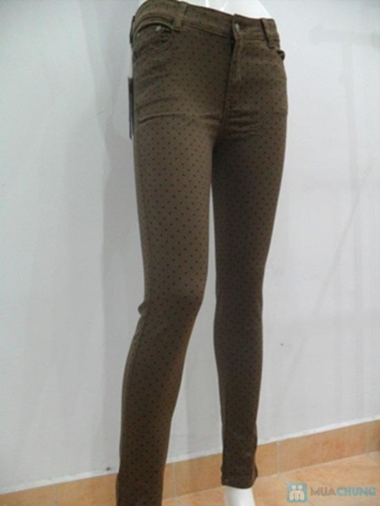Quần Jeans lụa họa tiết chấm bi cho nữ - Chỉ 135.000đ - 2