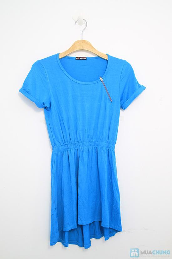 Đầm Mullet xanh phối dây kéo - Chỉ 115.000đ - 2