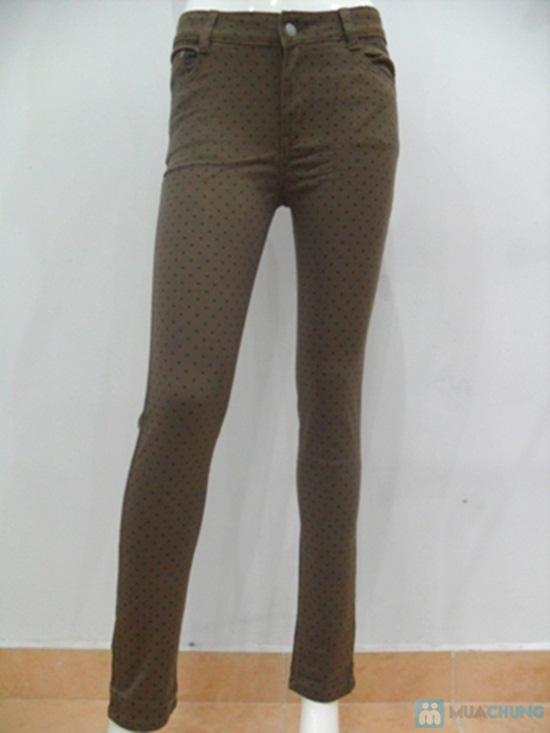 Quần Jeans lụa họa tiết chấm bi cho nữ - Chỉ 135.000đ - 3