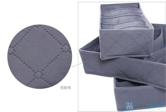 Hộp đựng đồ lót bằng vải xinh xắn, nhỏ gọn, tiện dụng - Chỉ 75.000/ 03 chiếc - 7