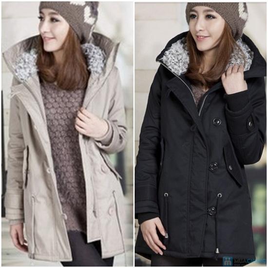 Phiếu mua áo khoác kaki dày dặn mũ lông - 1