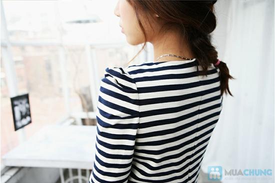 Đầm thun sọc ngang cực nữ tính cho các bạn gái - Chỉ 120.000đ - 8