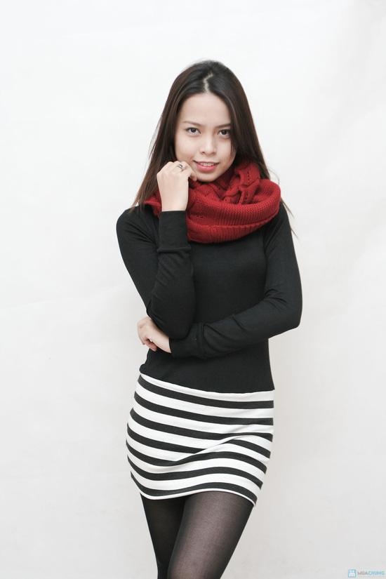 Áo dáng dài cổ lọ xinh xắn và ấm áp cho bạn  gái - 5