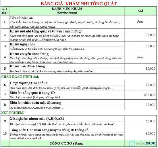 Gói khám nhi tổng quát 10 hạng mục quan trọng tại Phòng khám đa khoa Việt Hàn - Chỉ với 250.000đ - 1