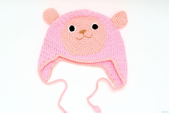 Mũ len hình con vật móc tay cho bé - 3