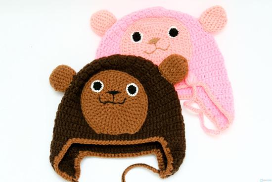 Mũ len hình con vật móc tay cho bé - 4