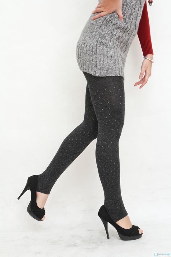 Com bo 2 quần tất len họa tiết chấm bi cho bạn nữ - 7