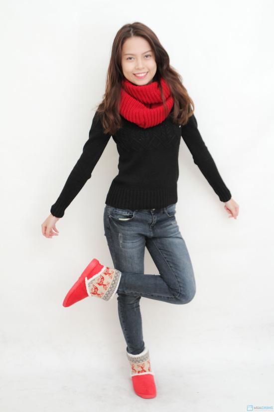 Boot cổ lông len - 3