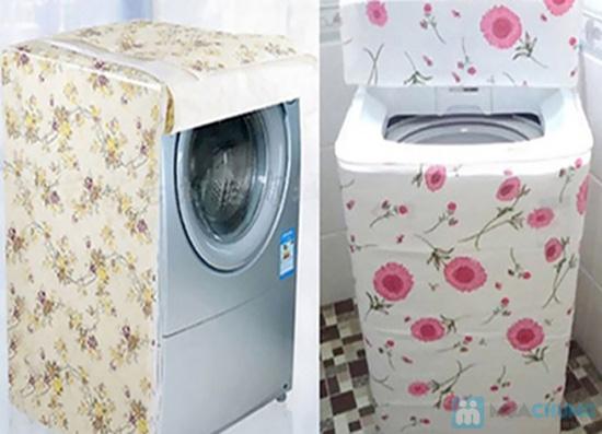 Chống bụi cho máy giặt với áo trùm máy giặt cửa trên - Chỉ 55.000đ/01 chiếc - 1