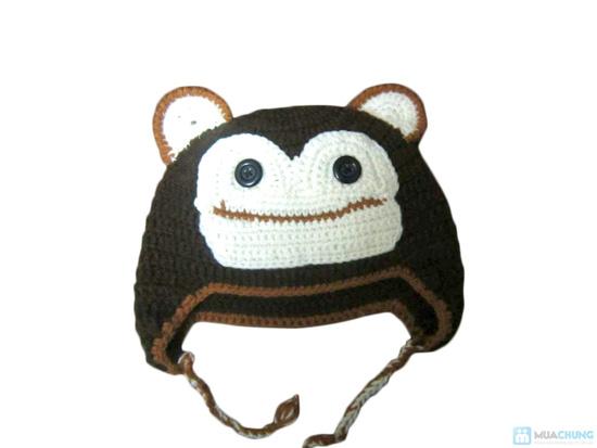 Mũ len hình con vật móc tay cho bé - 1