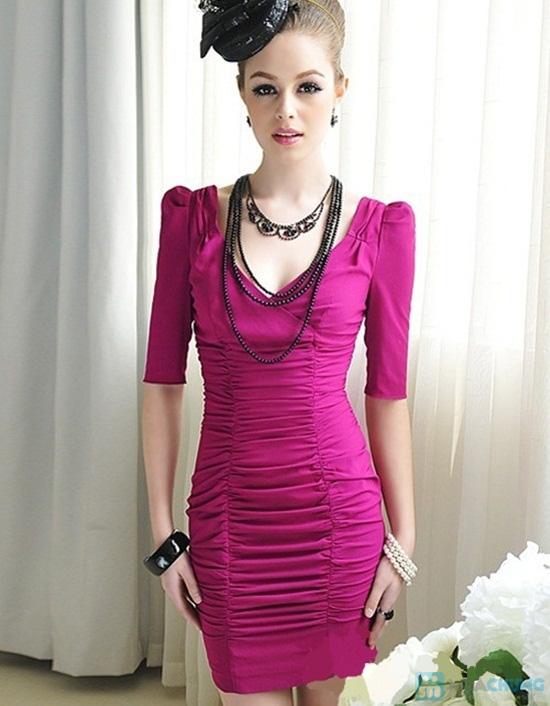 Đầm body thân nhúng tay phồng phong cách Hàn Quốc - Chỉ 115.000đ - 4
