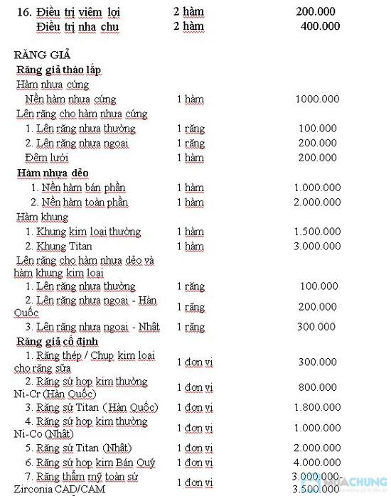 Dịch vụ bọc răng giả Titan tại Nha khoa Hà Nội - Chỉ với 720.000đ - 2