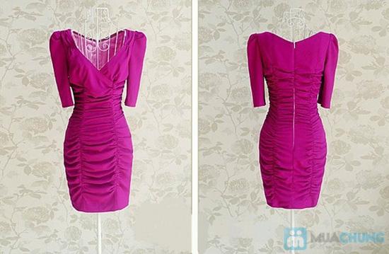 Đầm body thân nhúng tay phồng phong cách Hàn Quốc - Chỉ 115.000đ - 5