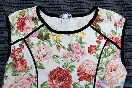 Đầm kaki hoa viền- Cho bạn gái dễ thương và xinh xắn mỗi ngày - Chỉ 135.000đ/01 chiếc - 7