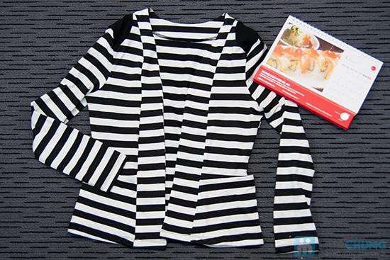 Nhẹ nhàng, nữ tính cùng áo khoác thun kẻ sọc ngang - Chỉ 100.000đ/01 chiếc - 1