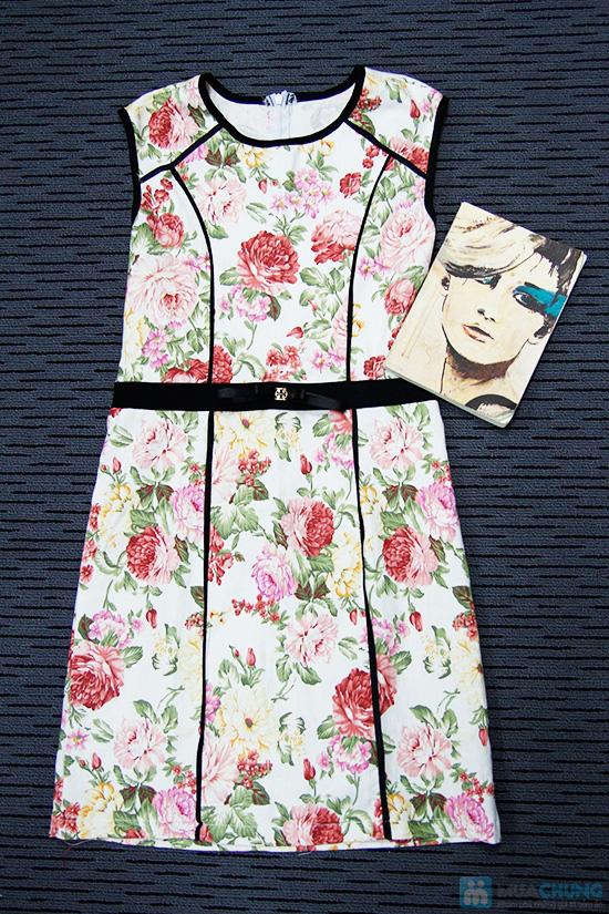 Đầm kaki hoa viền- Cho bạn gái dễ thương và xinh xắn mỗi ngày - Chỉ 135.000đ/01 chiếc - 6