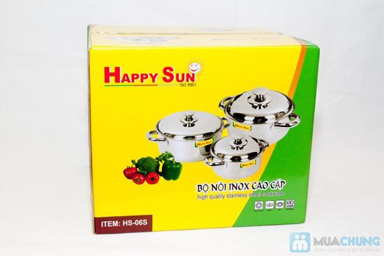 Bộ nồi Inox happy sun - Chỉ 235.000đ - 1