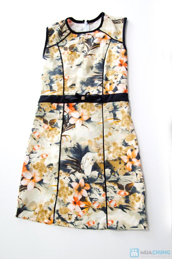 Đầm kaki hoa viền- Cho bạn gái dễ thương và xinh xắn mỗi ngày - Chỉ 135.000đ/01 chiếc - 3