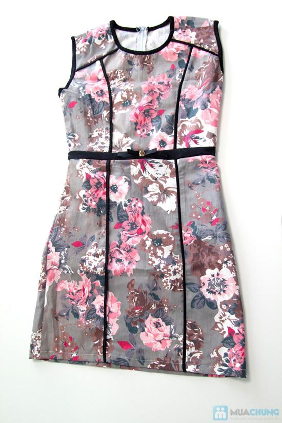 Đầm kaki hoa viền- Cho bạn gái dễ thương và xinh xắn mỗi ngày - Chỉ 135.000đ/01 chiếc - 2