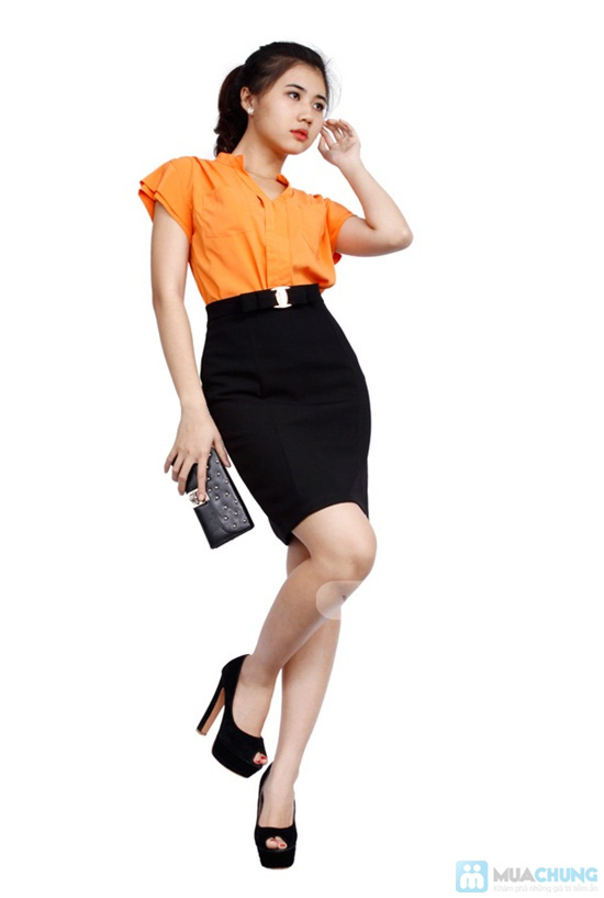Chân váy xẻ nẹp sắt - Chỉ 95.000đ/01 chiếc - 2