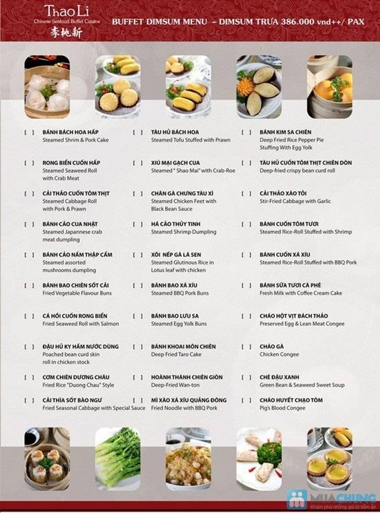 Buffet trưa Dimsum tại nhà hàng Trung Hoa Thaoli - Chỉ 255.000đ/01 người - 4