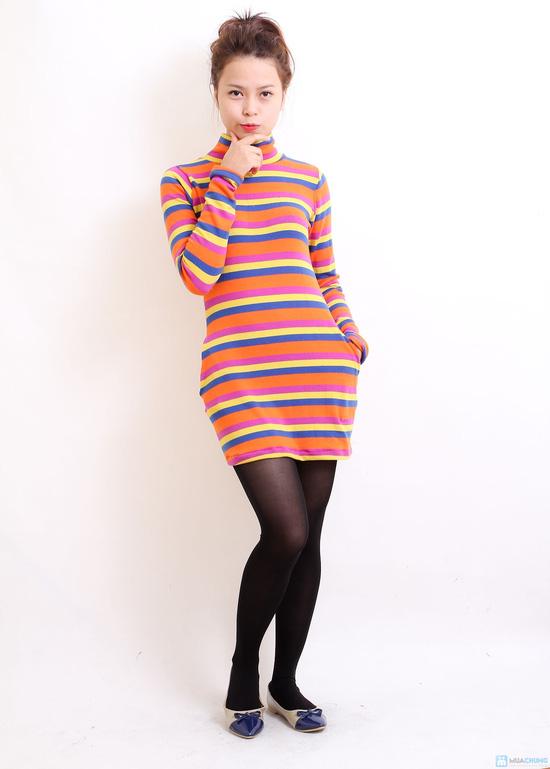 Váy len họa tiết cổ lọ cá tính - Chỉ với 129.000đ - 4