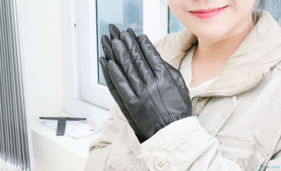 Găng tay da cừu cho nữ - 2
