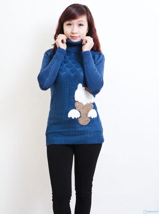Áo len cổ lọ dáng dài họa tiết mèo - Chỉ với 135.000đ - 7