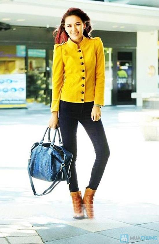 Áo khoác giả vest kaki vàng cá tính- Chỉ 150.000đ - 2