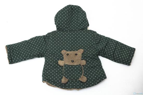 Áo khoác lông hình gấu dễ thương cho bé - 7