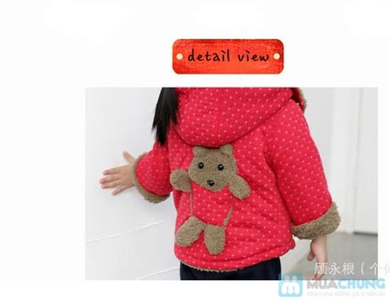 Áo khoác lông hình gấu dễ thương cho bé - 9